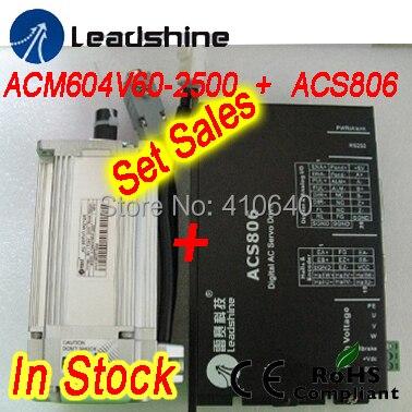 Набор продаж Leadshine ACM604V60 400 Вт бесщеточный AC Servo Двигатель и ACS806 сервопривод и кодер и кабель питания
