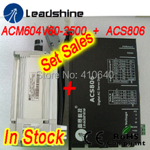 Set sales Leadshine ACM604V60 400W Brushless AC Servo Motor and ACS806 Servo Drive and encoder cable and power cable цена