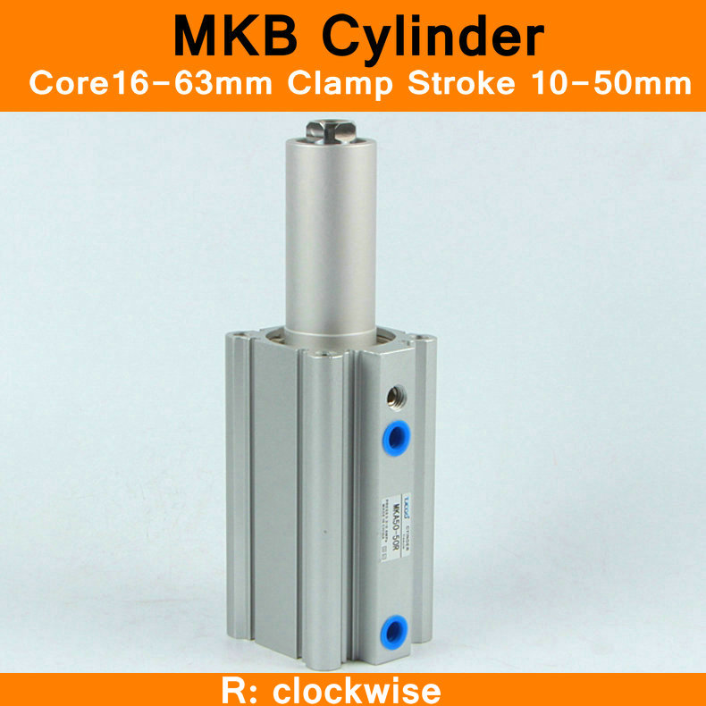 SMC MKB Style Rotary Clamping Cylinders Air Cylinder Pneumatic Components Air Cylinders Tools MKB series R Right Turn