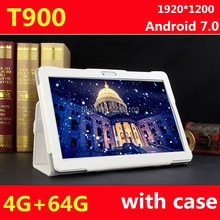 2017 Nueva 10 pulgadas Octa Core 3G/4G Tablet PC 4 GB 64 GB Android 7.0 IPS GPS 8.0MP 3G/4G WCDMA Dual Sim Tablet