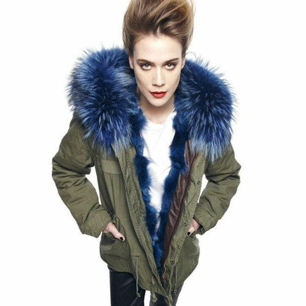 2016 New Women Winter Army Green Jacket Coats Thick Parkas Plus Size Real Raccoon Fur Collar Hooded Fashion Slim Coat C#1