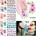 60 лист(ов) ногтей цветочная вода пересилки наклейка ногти обертывания фольга польские надписи временные татуировки водяной знак XF1001-1060