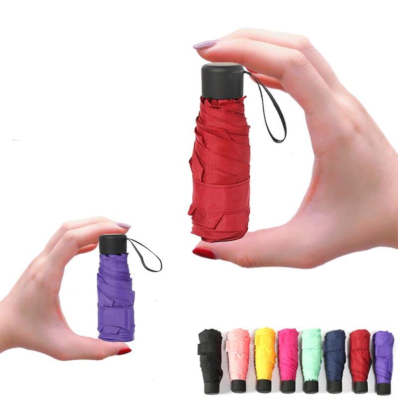 Mini bolso guarda-chuva feminino uv pequenos guarda-sóis 180g chuva à prova dwaterproof água dos homens sol parasol conveniente meninas viagem parapluie criança