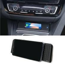 Für BMW 3 Serie F30 F31 F82 F32 F34 F36 auto QI drahtlose ladegerät schnelle lade modul tasse halter panel zubehör für iPhone