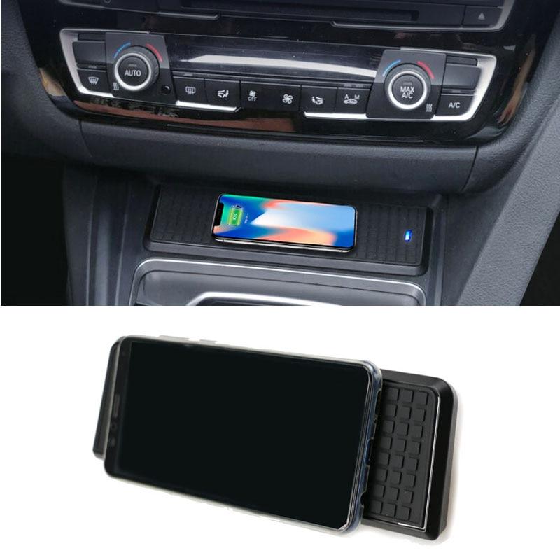 Para bmw série 3 f30 f31 f82 f32 f34 f36 qi carregador sem fio do carro módulo de carregamento rápido suporte copo painel acessórios para iphone