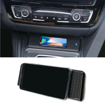 For BMW 3 Series F30 F31 F82 F32 F34 F36 car QI wireless charger fast charging module cup holder panel accessories for iPhone