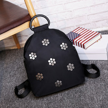 Waterproof nylon with leatherBag Korean female fashion sequins high waterproof performance