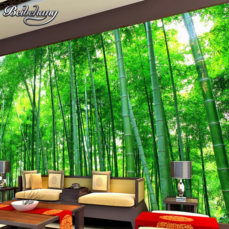 Beibehang  Custom Photo Wallpaper 3D Stereo Natural Landscape Bamboo Wallpaper Living Room Background Decorative Wallpaper