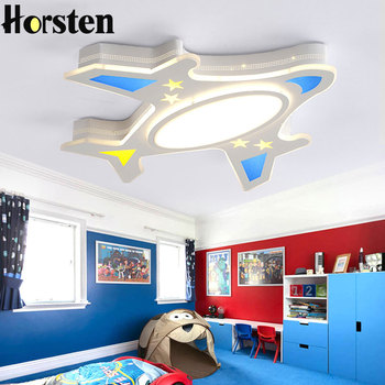 Kids Room LED Ceiling Lights Creative Airplane Modern Remote Dimmable Ceilings Light Fixtures For Child Baby Bedroom Ultra-thin