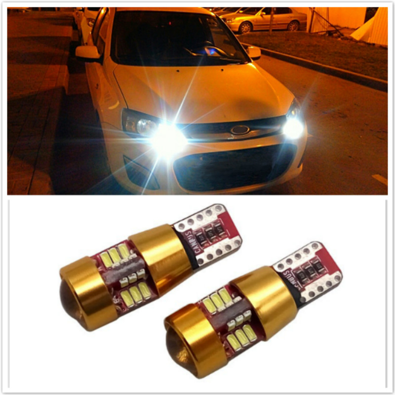 2x Canbus T10 W5W LED Clearance Lights Bulb For Ford Focus 2 3 4 1 Fiesta Fusion mondeo mk3 mk4 kuga <font><b>mustang</b></font> ka Car accessories image