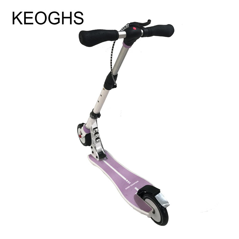 adult children women Mini kick scooter Handbrake Foldable PU 2wheels all aluminum shock absorption urban campus transportation цена и фото