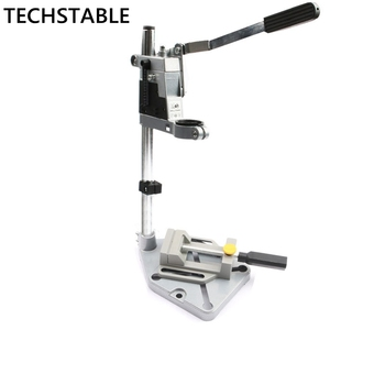 TECHSTABLE Aluminum bench Drill Stand Single-head Electric Drill  Base Frame Drill Holder Power Grinder accessories for Woodwork