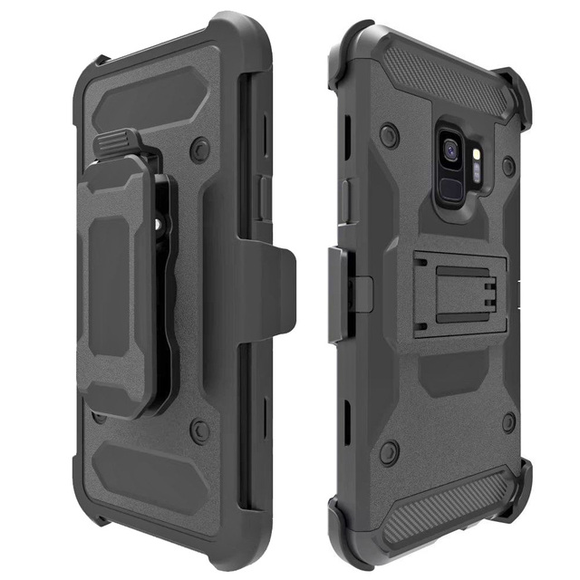 b08ffeeb998 Note 9 8 Phone Case Silicone Military Belt Clip Shockproof Armor Case For  Samsung Galaxy S9 PLUS S7 Edge S8 Active Stand Cases