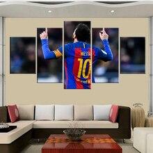 5 stuk Fc Barcelona Messi canvas gedrukt schilderij voor living foto wall art HD print decor moderne kunstwerken voetbal poster
