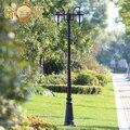 2 cabeças/3 cabeças Europa jardim postes de iluminação ao ar livre preto/bronze clássica ao ar livre poste de iluminação 2 M/2.5 M/2.9 M de Alumínio AC 100-240 V