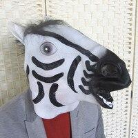 Cheval Masque Effrayant Costume Party Costume Latex Halloween Masques de Fête de fête Fournitures Accessoires MZ137