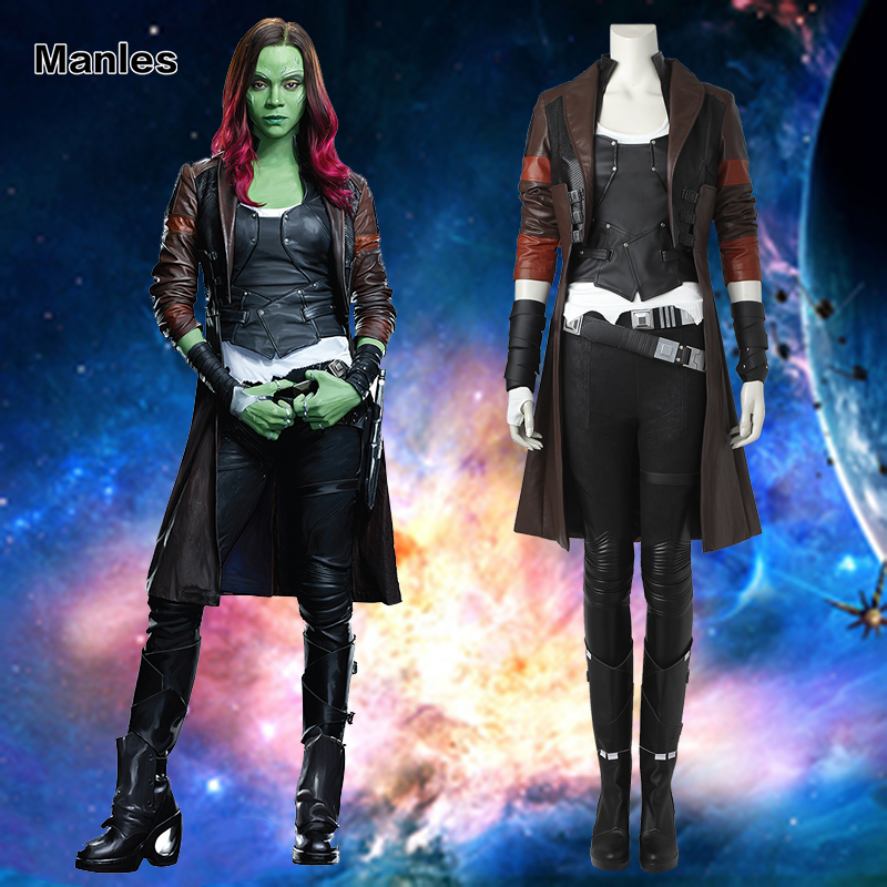 Guardians of the Galaxy 2 Gamora Cosplay Costume Halloween Costume Heroine Outfit Fancy Suit Adult Women Girls Carnival Tailored