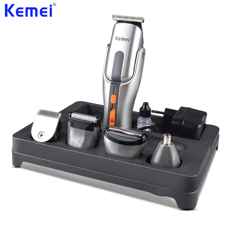 KEMEI 2017 professionnel coupe cheveux électrique tondeuse Rechargeable tondeuse rasoir rasoir sans fil réglable ClipperKM-680A