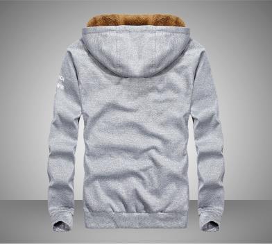 Hoodie dos homens casaco grosso - 6
