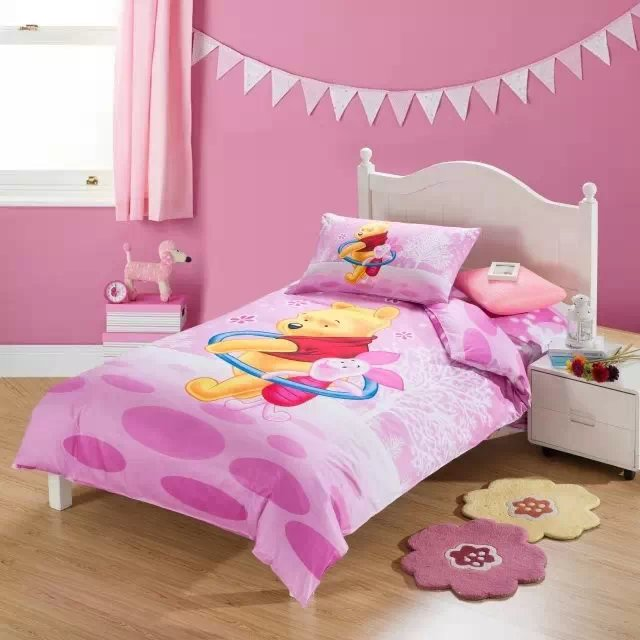 pink winnie the pooh bedding sets single twin size ...