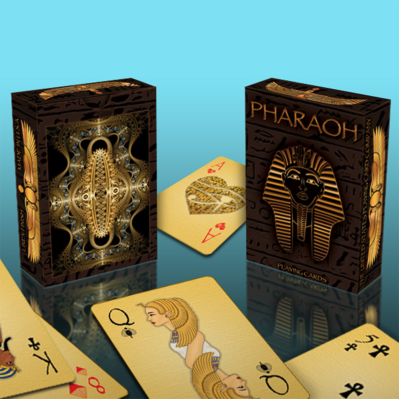 1 Deck Pharaoh Playing Cards Limited Edition Bicycle Poker New Sealed Magic Poker Cards Magic Tricks Props poker cheat xf 004 perspective poker lens see invisible marked cards anti gamble cheat magic glasses casino cheating