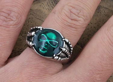High Quality Cool Skull Ring, Gothic Punk Style Skeleton Ring
