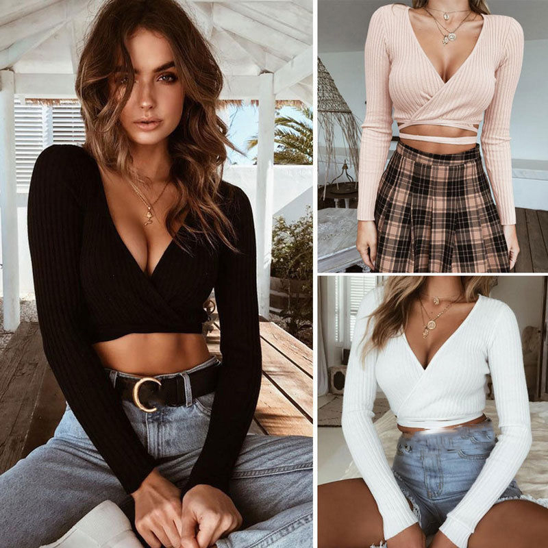 cf09000c423 best top 10 summer sexy v neck long sleeve casual ideas and get free ...