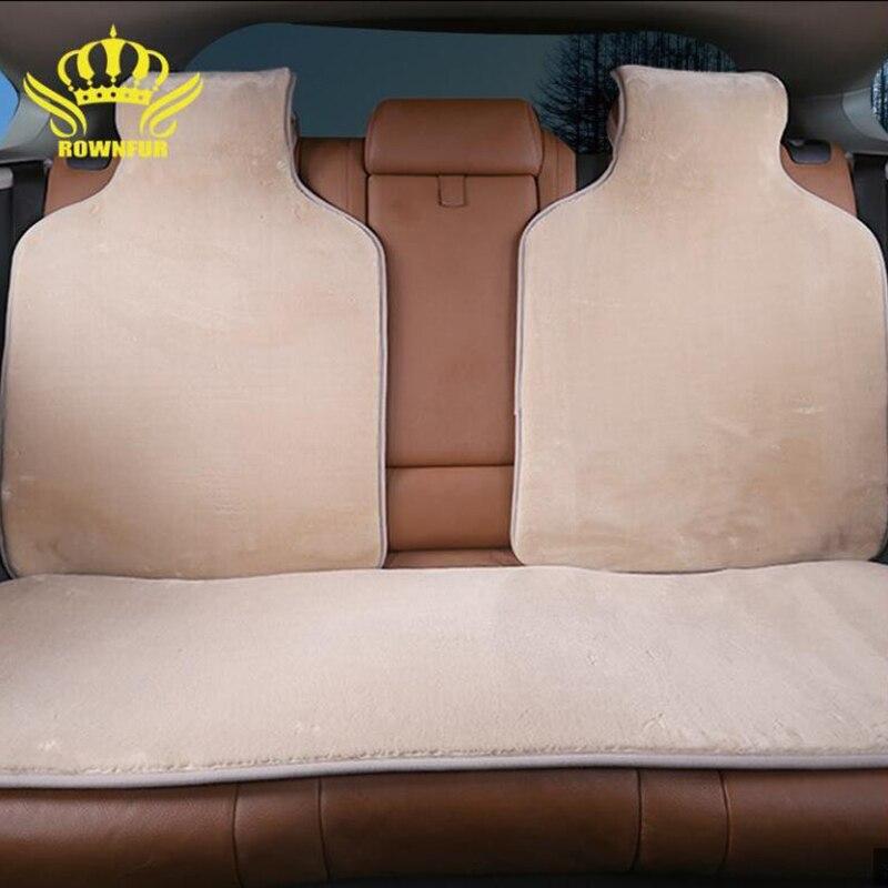 faux fur car seat covers artificial fur capes for rear seat 5 colors soft fur winter
