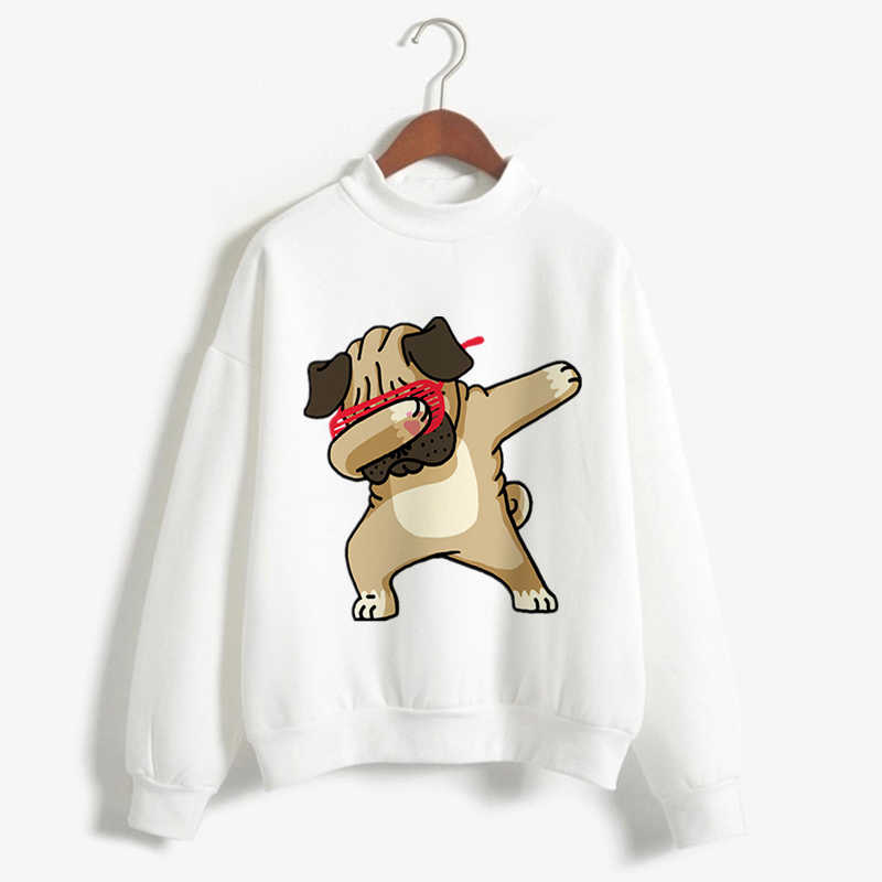 Hoodie Harajuku Kawaii Dabbing Tops Hoodie Long Sleeve Animal Printed french bull Funny Pullovers Women Clothes 2019 Sweatshirts