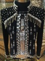 2015 Оригинальный дизайн высокого качества Мужской жемчуг украшения тонкий горный хрусталь Куртка звезда этап DJ ночном клубе певица костюм костюм