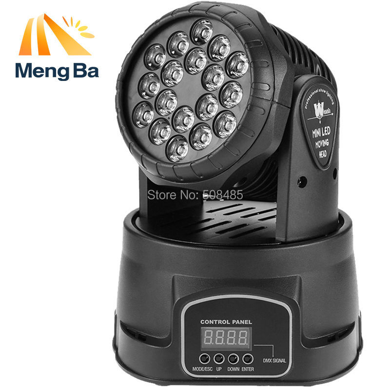 (1 pieces/lot) led wash 18x3w RGB LED mini Moving Head Light dmx Wash spot Light For Event,Disco Party Nightclub имидж мастер зеркало агат 28 цветов черный глянец 1 шт