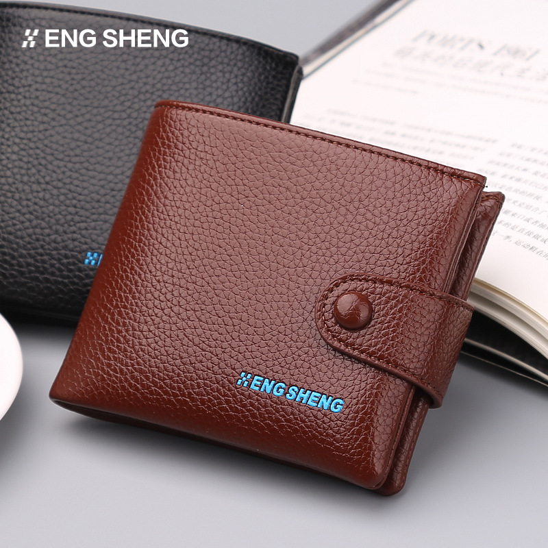 Retro nostalgic cowhide men Wallets Genuine Leather mens Wallet Zipper Design With Coin Purse Pockets Mini Walet