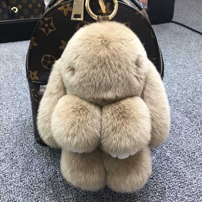 عيد الميلاد Pluff الأرنب المفاتيح ريكس الأرنب اصلي الفراء سلسلة مفاتيح للنساء حقيبة اللعب دمية منفوش بوم بوم جميل بوم بوم كيرينغ