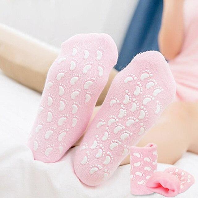 Spa pedicura calcetines de tres colores opcionales gel a cuidado de los pies pies calidad del envío gratis