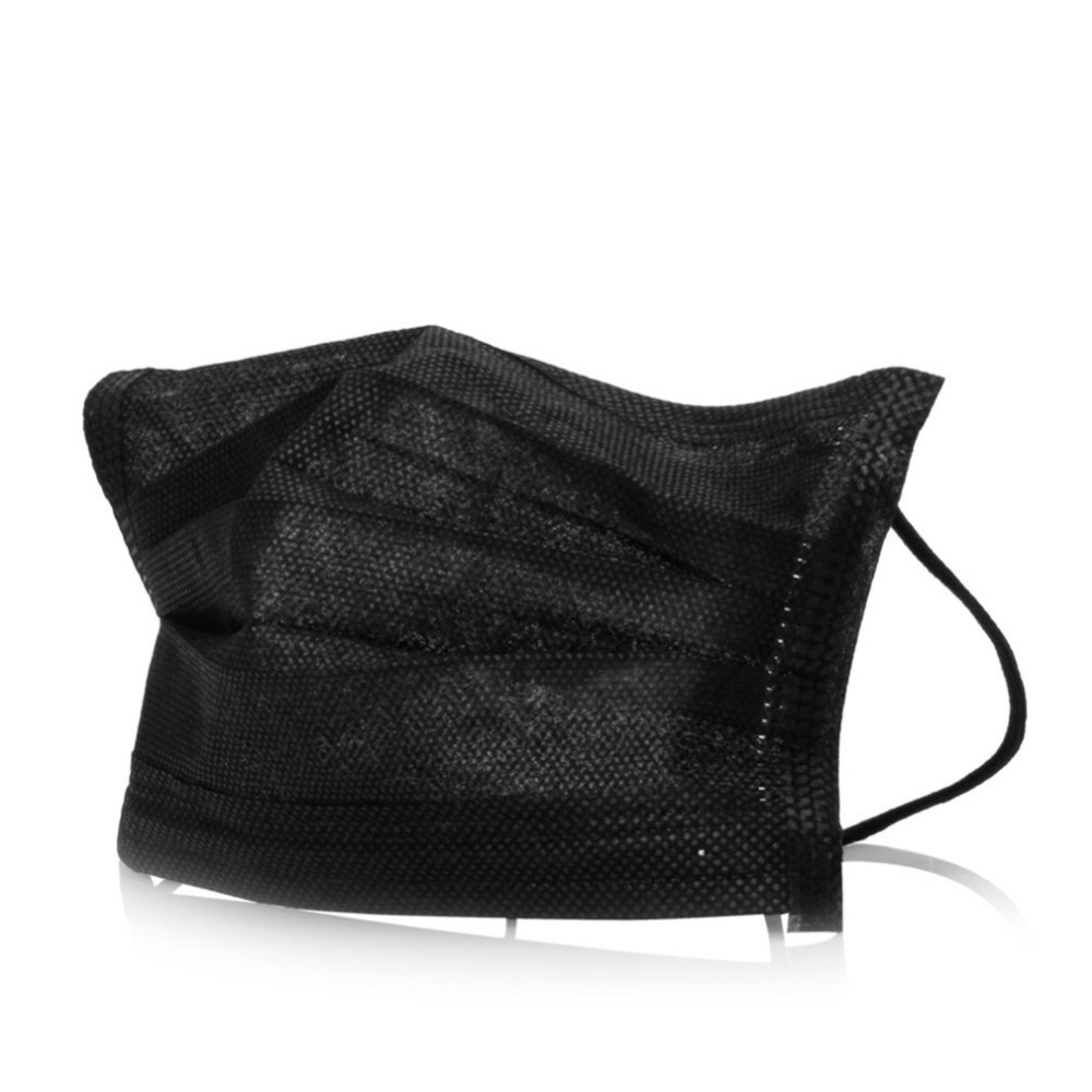 black face surgical mask