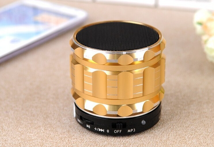 S28 Metal Mini Portable Bluetooth Speaker Handfree Mic+TF Card Slot, Stereo Speakers Laptop/PC/MP3/ MP4 Player  -  PlayKey store