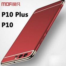Huawei P10 чехол Huawei P10 Plus чехол бампер Роскошные 3 в 1 Назад Жесткий Coque Mofi Huawei P10 плюс Чехол Huawei P10 случае