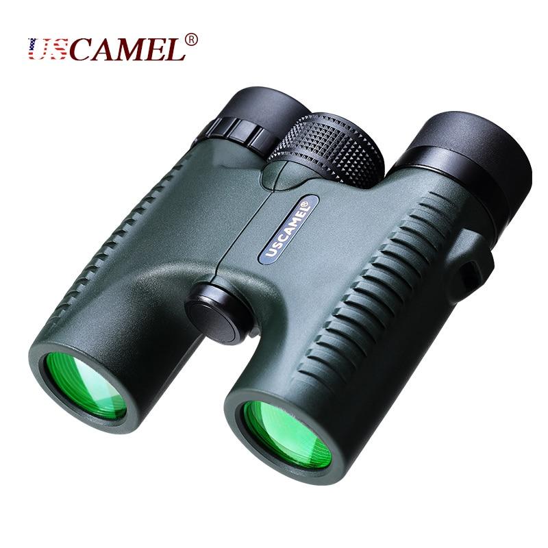USCAMEL Militar Compacto 10x26 HD Binoculares Impermeables Visión Clara Zoom Telescopio Profesional para Viajes Caza al Aire Libre