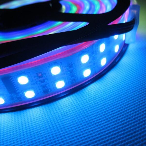 5 M/roll Doppia Fila TM1812 Colore di Sogno 600 5050 RGB HA CONDOTTO La Striscia 120 leds/M DC12V Impermeabile IP67 LED strip
