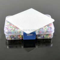3mm Mixed Colors Hama Perler Fuse Beads 3200Beads 1 Small Square Pegboard 1 Tweezer 1 Iron