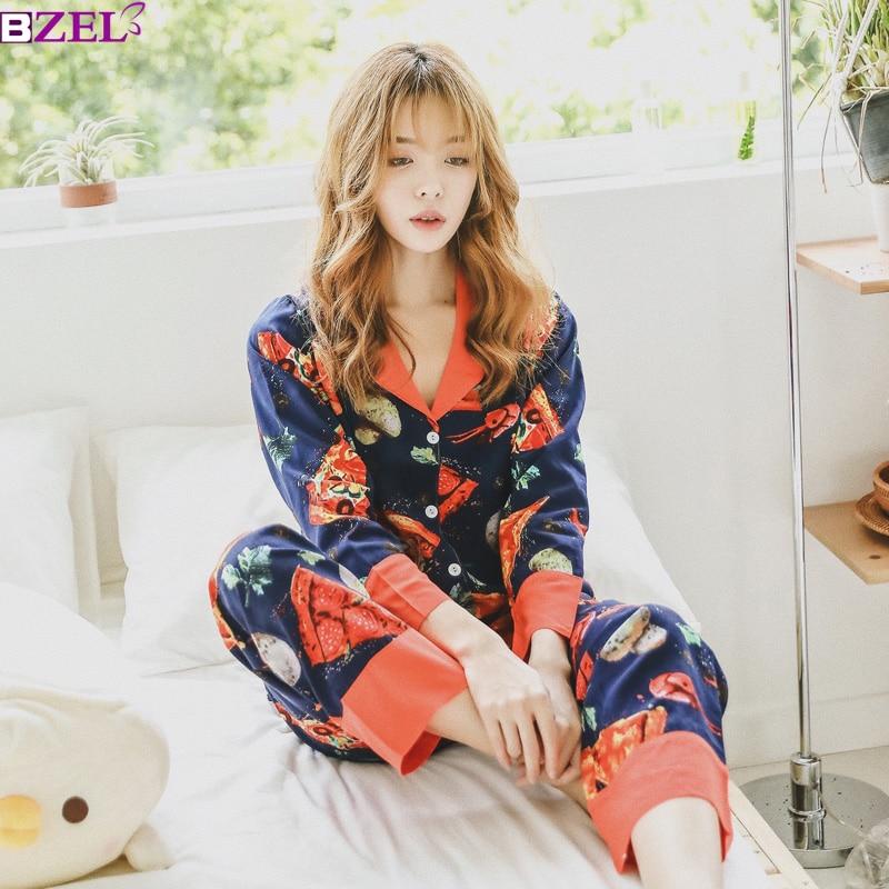 Autumn Cotton lobster Homewear Clothing Turn-down Collar Cardigan Elegant Women Pajamas Suit pajamas for women home clothes