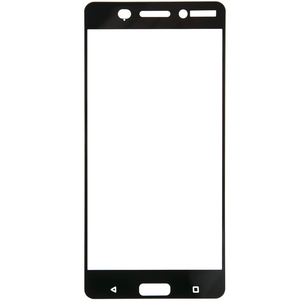 Protective glass Red Line for Nokia 6 Full screen black