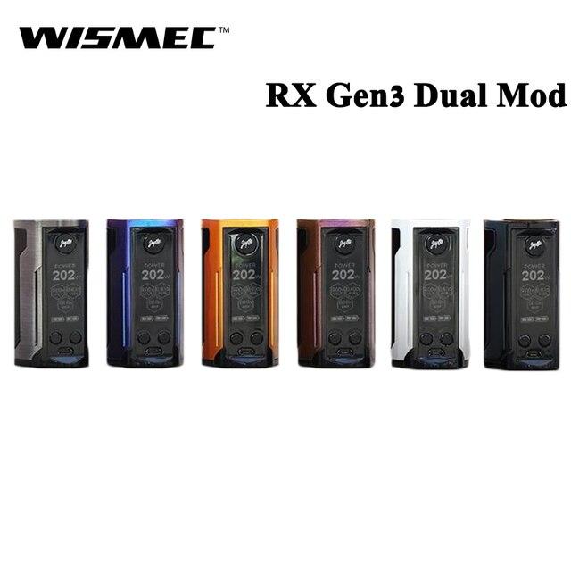 Оригинальный wismec reuleaux RX GEN3 двойной 230 Вт RX GEN 3 двойной поле MOD электронная сигарета Vape Поддержка гном King вапоризатора