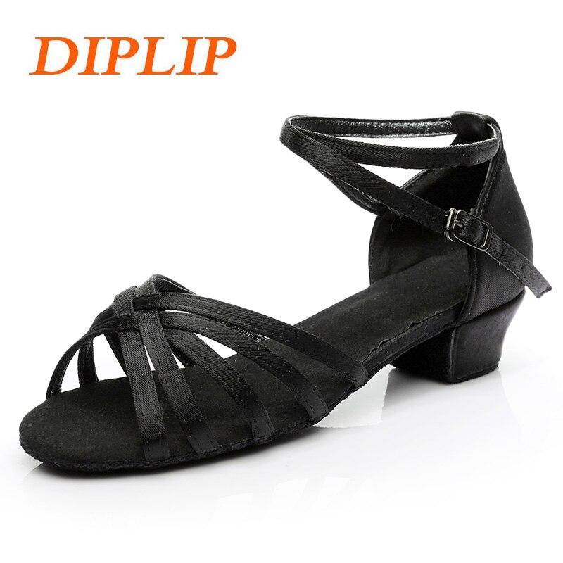 3d12c341 DIPLIP nuevos niños salón de baile Niña Zapatos niño Zapatos Niños de baile  latino tango moderno zapatos de baile zapatos de niñas zapatos de salsa