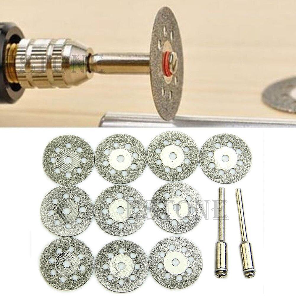 22MM 0.88'' Rotary Tool Circular Saw Blades Cutting Wheel Discs Mandrel Dremel Cutoff MY17