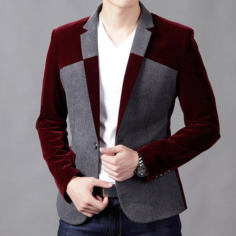 Popular Mens Red Blazer Black Collar-Buy Cheap Mens Red Blazer ...