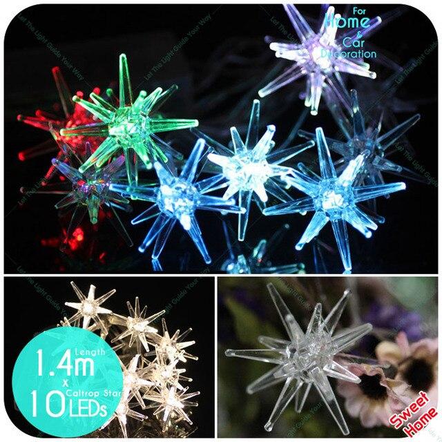 10 Leds Caltrop Star Led Light Lighting For Christmas Garden Party Diy Lights Decoration String Patio