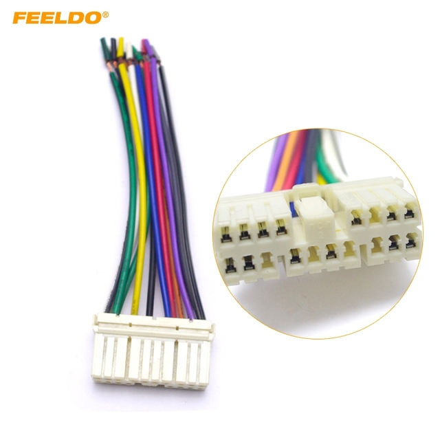 leewa car audio radio stereo wiring harness adapter male plug for daewoo  ssang yong actyon/korando chevrolet spark #5691
