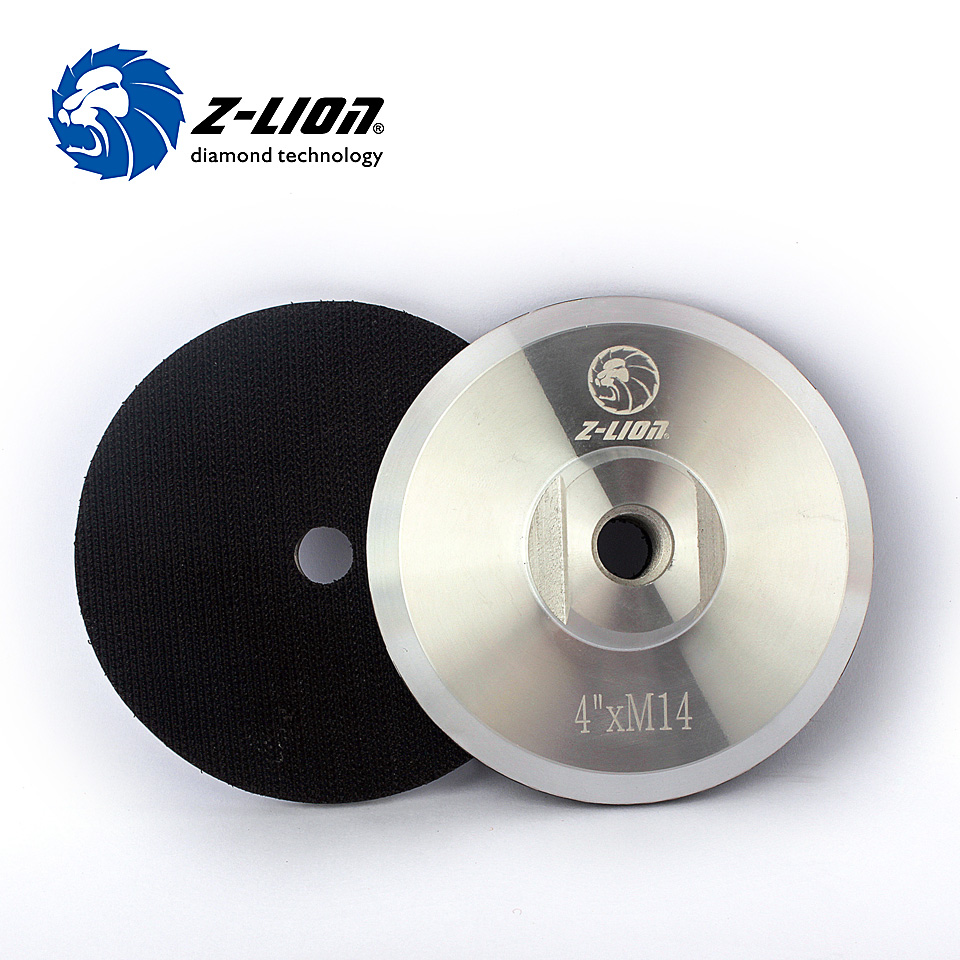 Z-Lion M14 4 Backer Pad Sanding Pad 100 Mm Abrasive Wheels Polishing Bonnets Buffing Pad Tools Metal Backing Sanding Pad 3pcs cleaning sponge polishing pad plate backing pad car wash and care tools 1 2 2 3 m14 mar drop ship