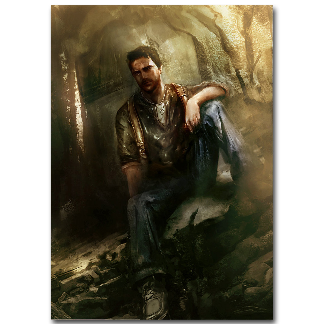 Uncharted 4 A Thiefs End Art Silk Fabric Poster 13x20